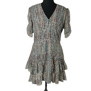 Karen Zambos Vintage Couture Ruffle Dress